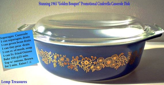 "rare vintage pyrex | LEMP EST.Gorgeous Rare Vintage Pyrex Collectible ""Golden Bouquet ...1965"