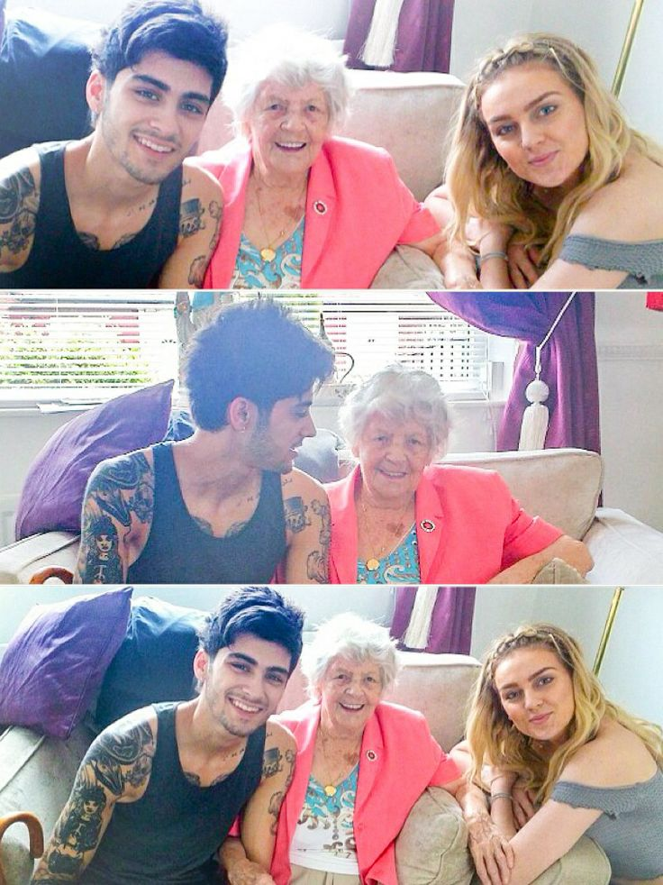 Perrie Edwards Zayn Malik and Perrie's great grandma. I swear her grandma has a heart shaped birthmark on her chest