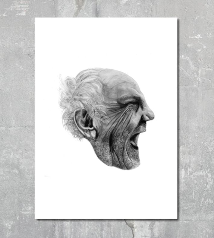 This digital print is made from an original illustration by Kathrine Luna. It is drawn with pencil and charcoal. You can buy this piece here: www.artrebels.com #artrebels #blackandwhite #art