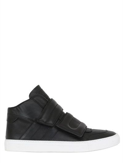 Double Strap Leather Mid Top Sneakers, Black. Shoes SneakersFlatsSneakers.  MM6 DI MAISON MARGIELA ...