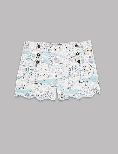 Cotton Printed Shorts with Stretch (3-14 Years) | Marks & Spencer London