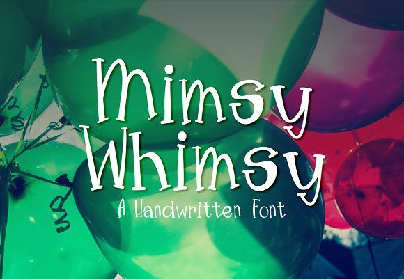 Mimsy Whimsy Typeface by Groovy Journal on @creativemarket