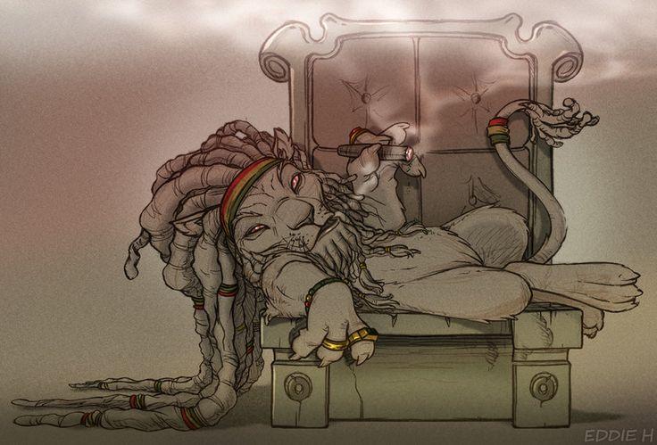 RASTA LION by EddieHolly.deviantart.com on @deviantART