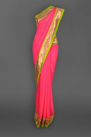 Featuring this beautiful Neon Pink Sari in our wide range of Saris. Grab yourself one. Now!