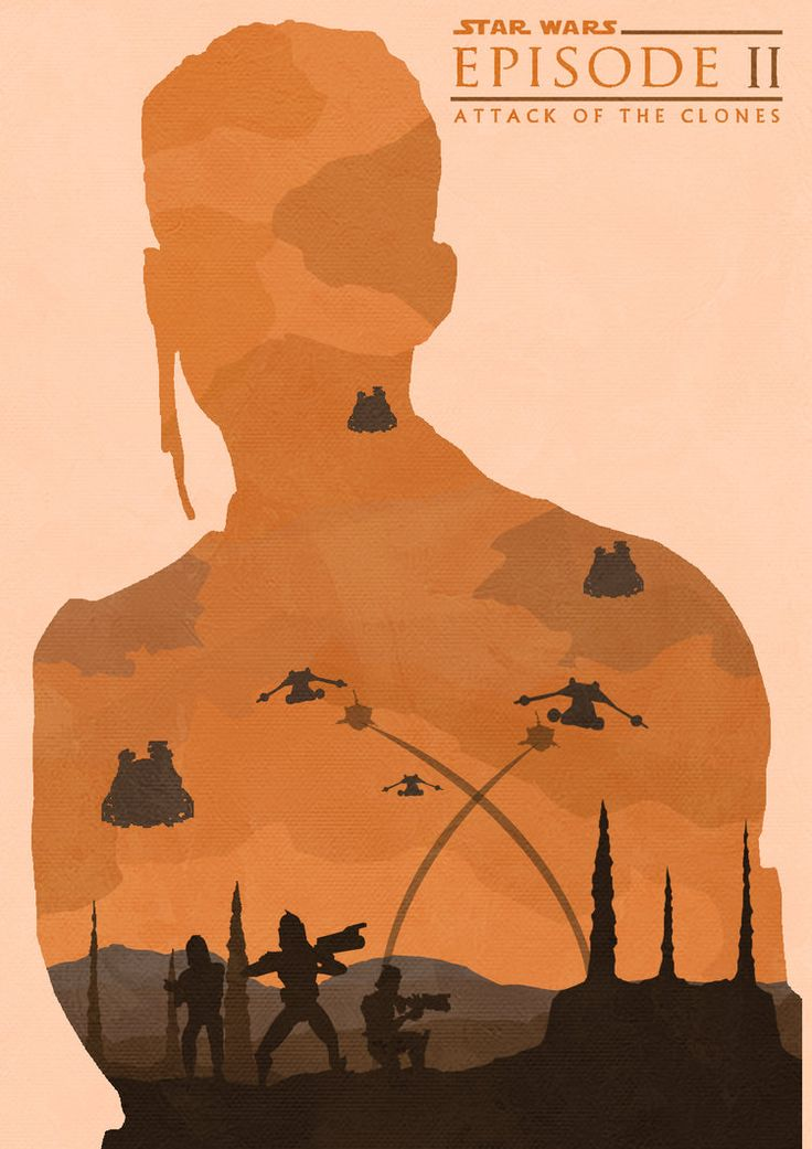 Star Wars: Attack Of The Clones - movie poster - Lewis Dowsett