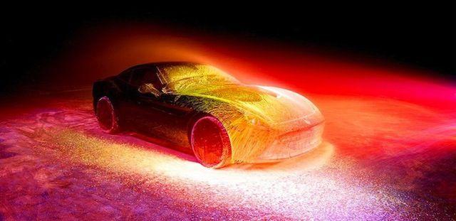 Glowing Painted Ferrari-5