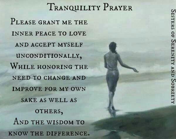 Tranquility Prayer