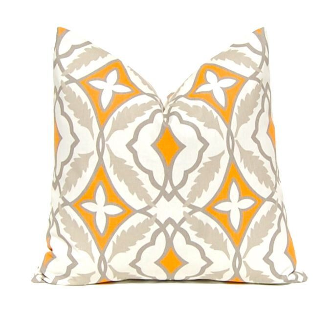 Orange Pillow Covers, Decorative Throw Pillow Cover, Orange and Charcoal Gray Cushion Covers, Fall Pillow Covers, Autumn Pillow Covers by CompanyTwentySix on Etsy https://www.etsy.com/listing/153485320/orange-pillow-covers-decorative-throw