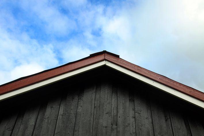 Mønet på hytta. Komposisjon 1 - 50/50.