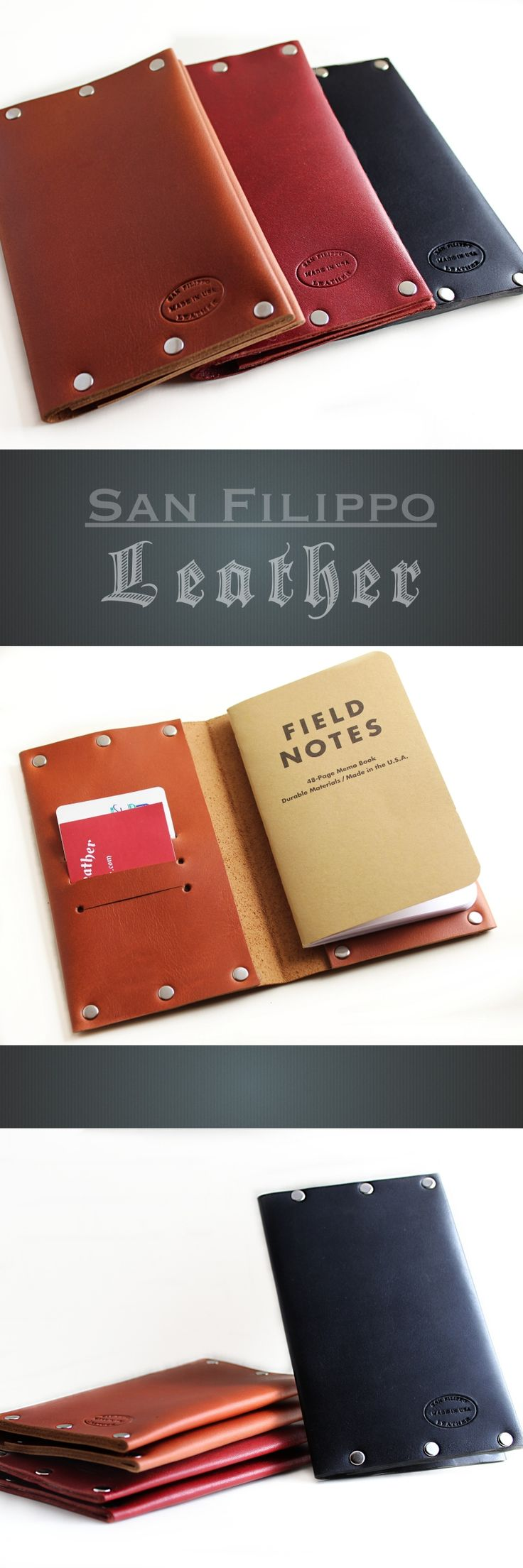 Leather Notebook Cover for Field Notes