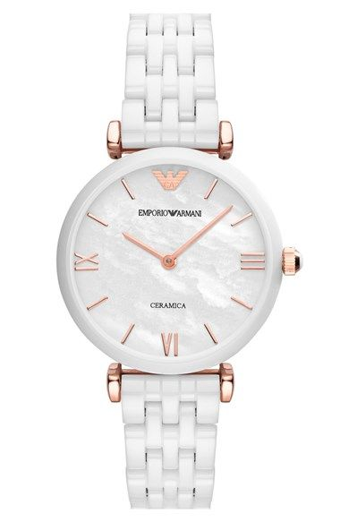 Emporio Armani Ceramic Bracelet Watch, 32mm available at #Nordstrom