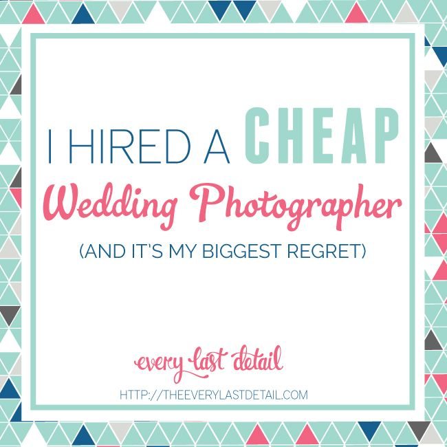 If there is anything I tell my couples to spend towards the best they can...it is the photographer.  Read why here--> I Hired A Cheap Wedding Photographer