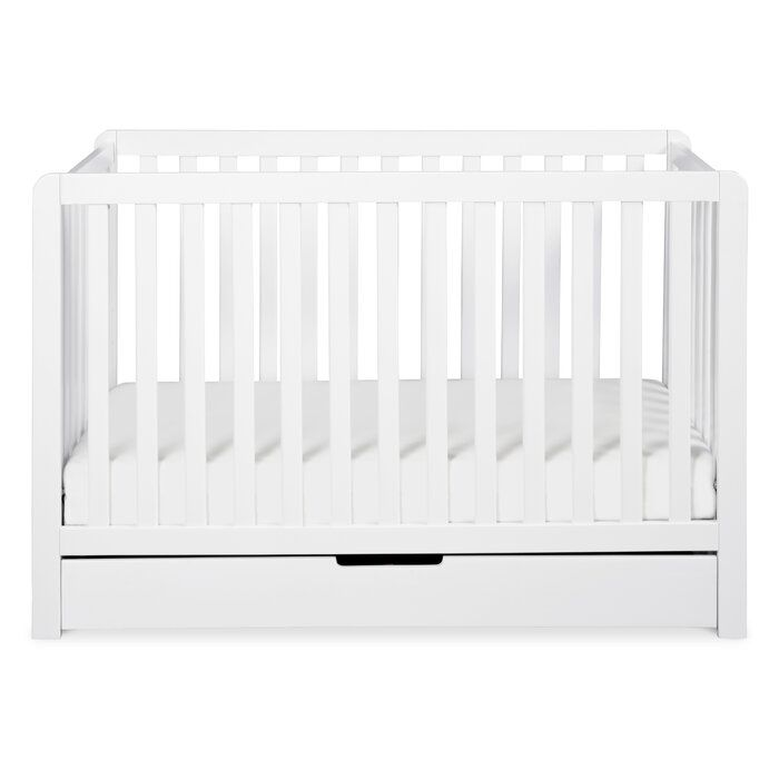 Colby 4 In 1 Convertible Crib With Storage In 2020 Cribs Convertible Crib Under Crib Storage