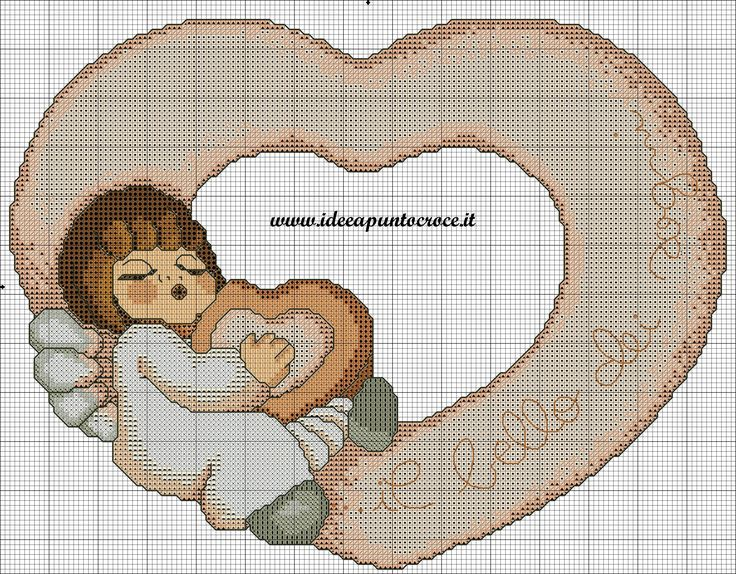 schema punto croce angelo thun