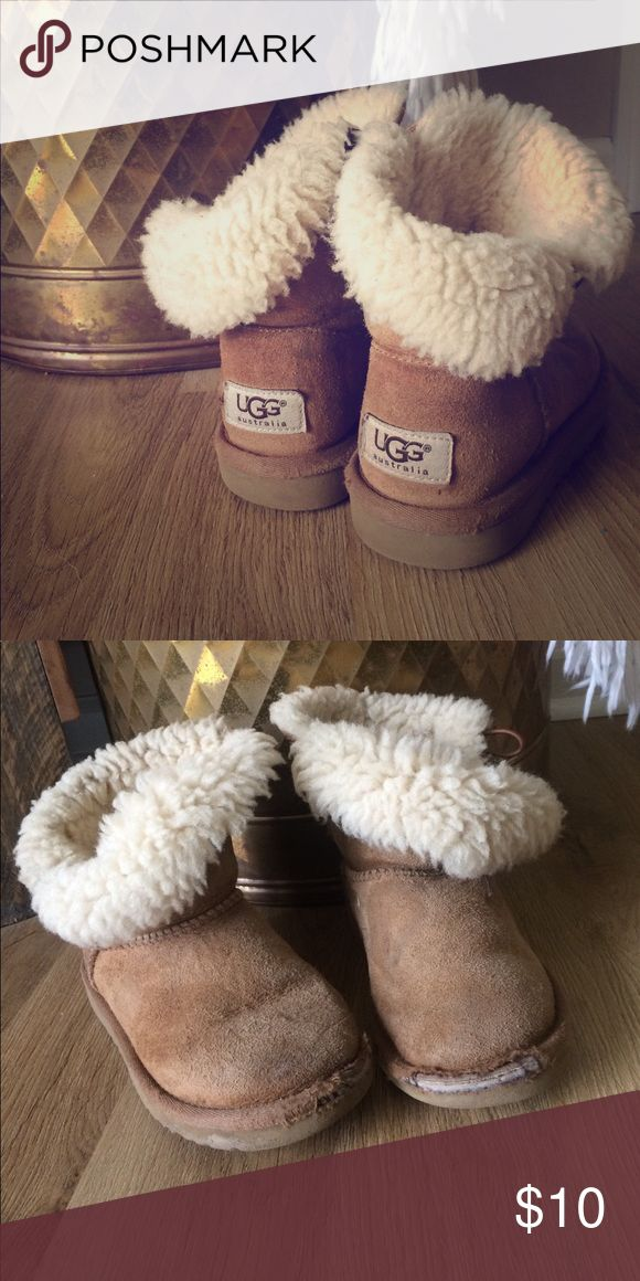 Kids UGG Boots these are a size 12 (kids) • they are quite worn out, but still have some life left in them! • for anyone who knows how best to clean uggs, you could definitely turn these babies around! (4) UGG Shoes Ankle Boots & Booties