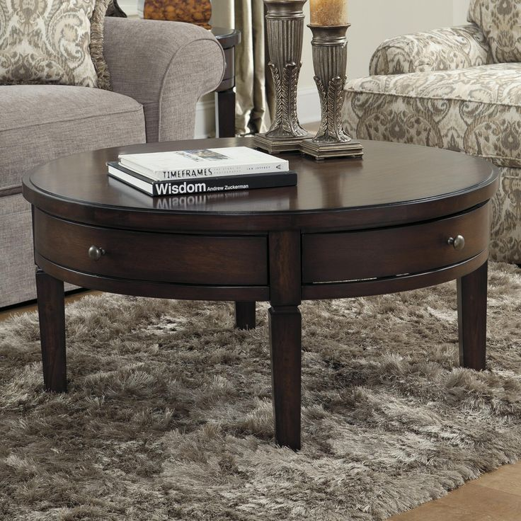 Bon Signature Design By Ashley Holloway Mahogany Stain Round Cocktail Table    Overstock™ Shopping   Great Deals On Signature Design By Ashley Coffee, ...