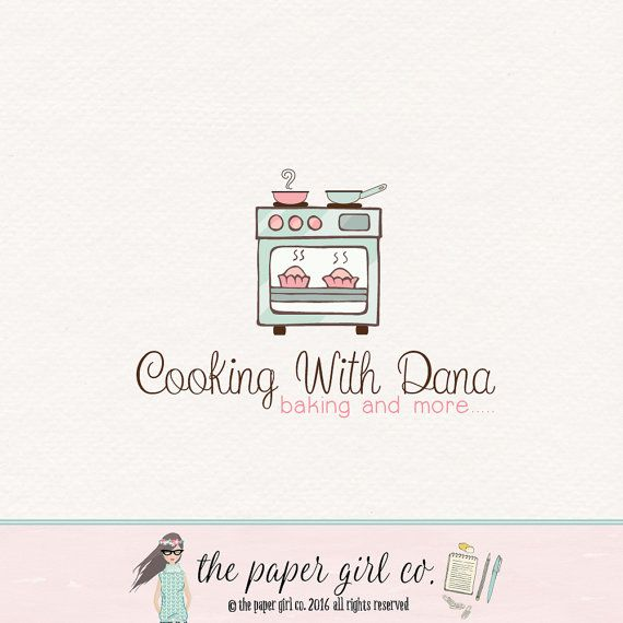 oven logo cooking logo catering logo food by ThePaperGirlCo