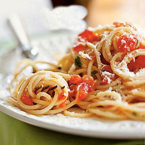 """Although any purchased spaghetti will do, this dish becomes special enough for company if you use artisanal pasta (see """"Fantastic Pasta You Can Buy,"""" below)."""
