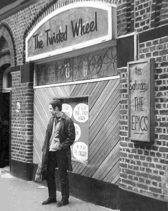 """""""Back in the mid 60s I was a Mod, and being a big Soul music fan, was a regular at the Twisted Wheel Club All-Nighters in Manchester."""" Mod outside the Twisted Wheel, Manchester, United Kingdom, 1967, photograph by Paul Stanley."""