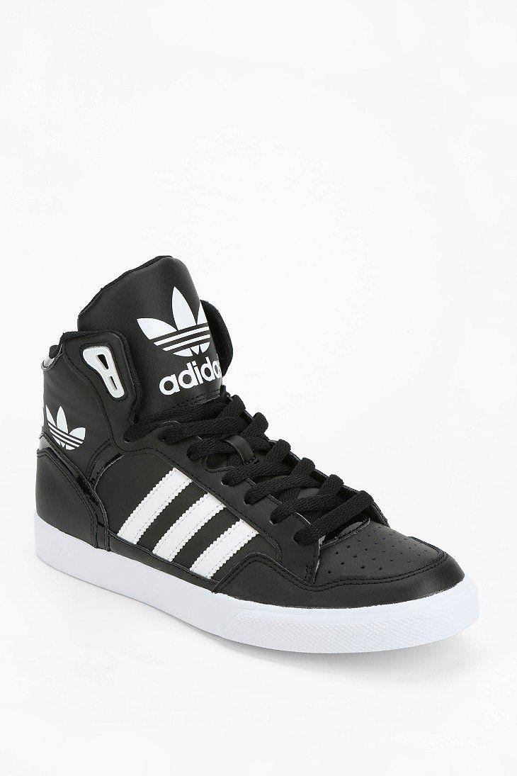 Adidas Top Ten Hi Sleek Bow Zip Trainers: Adidas Originals Extaball Leather High-Top Sneaker