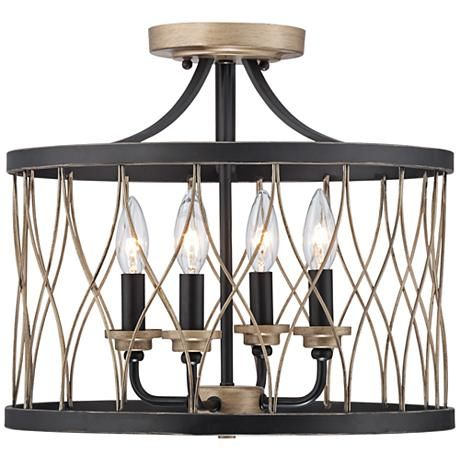 Witmer Black Bronze 16 Quot Wide 4 Light Ceiling Light