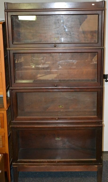 barrister bookcase w 4 sections lot 346