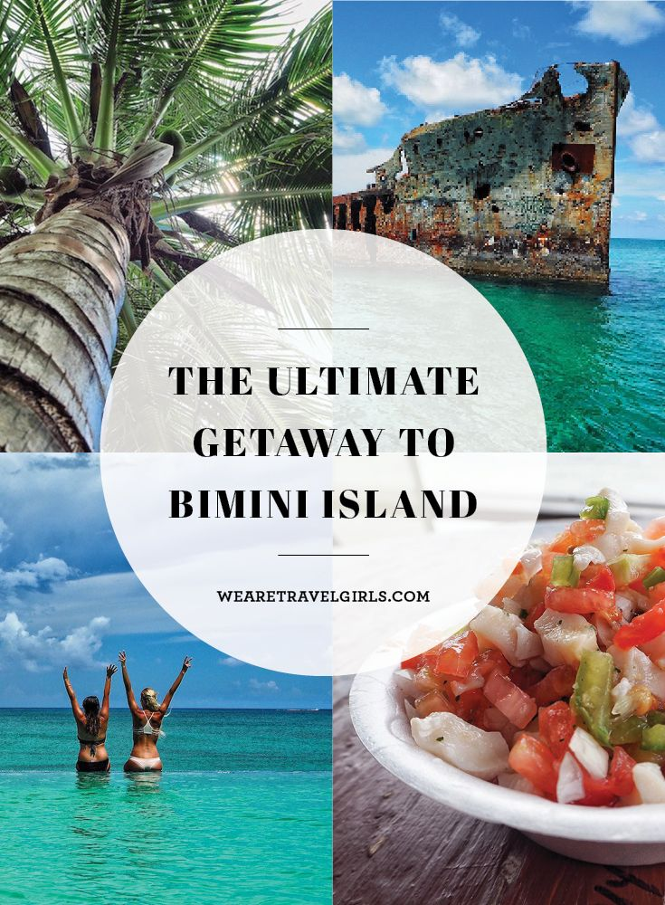 THE ULTIMATE GETAWAY TO BIMINI ISLAND If you're looking to step into paradise for the weekend, look no further than Bimini Island. As soon as you step off your seaplane, you'll be transported to the ultimate wonderland. And the best part about it? It's only a short 30-minute plane ride from Fort Lauderdale. By We Are Travel Girls Contributor Taylor Fuller.