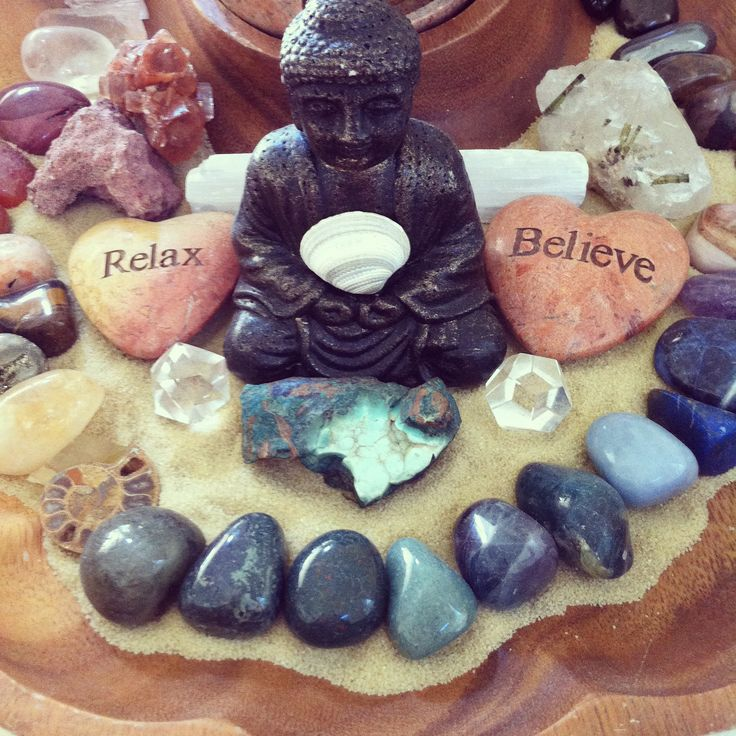 Sacred space with affirmations