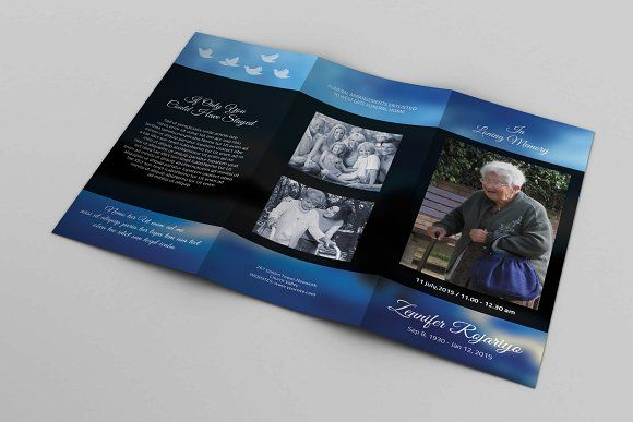 Trifold Funeral  Template-V314 by Template Shop on @creativemarket