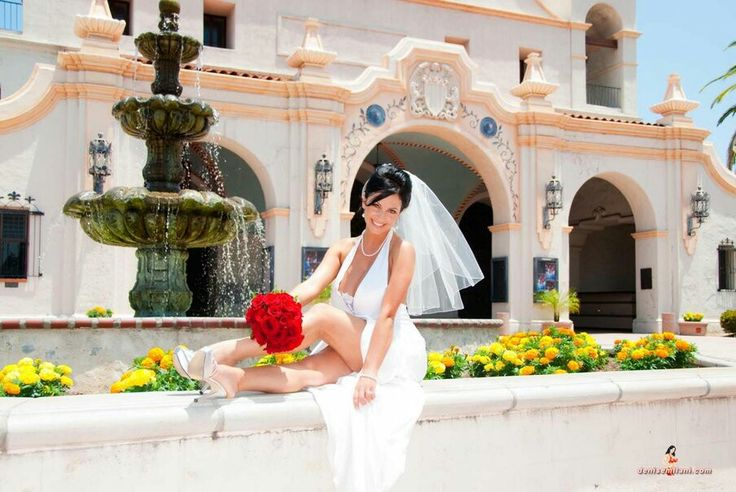 She looks wonderful wearing white!  Thanks to Denise Milani for the bridal fashions.