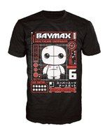 Pop! Tees Disney Big Hero 6 Baymax Pop! T-Shirt - Black - XL High quality shirts which the bring the world of POP! characters to a series of collectible shirts. The Disney Baymax Tech POP! Tee is available in a number of sizes, packed in a book-like display box http://www.MightGet.com/march-2017-1/pop!-tees-disney-big-hero-6-baymax-pop!-t-shirt--black--xl.asp