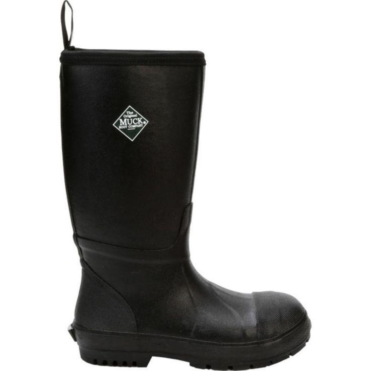 Muck Boots Men's Chore Resistant Met Guard Waterproof Steel Toe Work Boots, Size: 14.0MEDIUM, Black