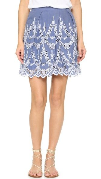 KENDALL + KYLIE Eyelet Circle Skirt in Tempest - $138