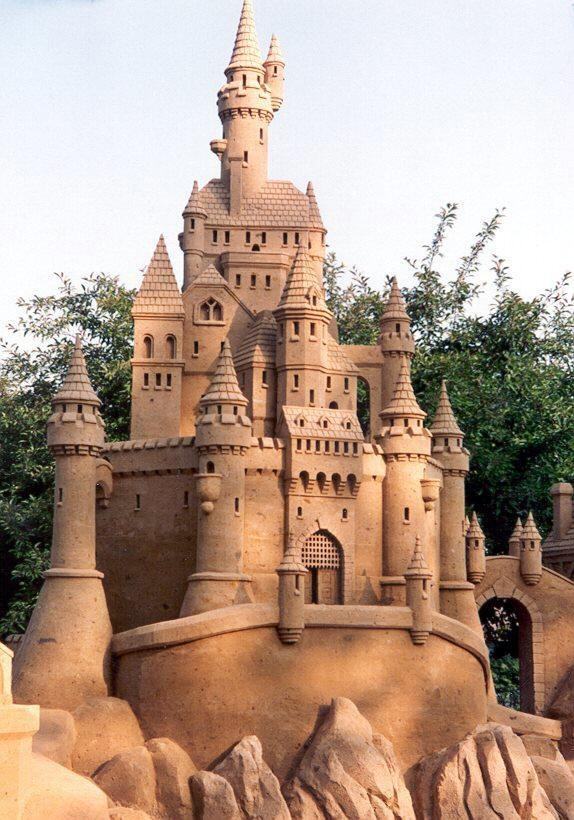 Sand Sculpture Castle | Art | Pinterest