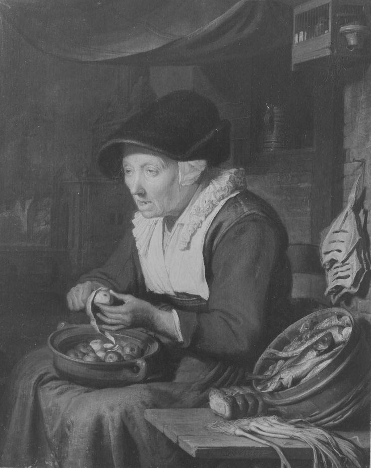Gerrit Dou: haringverkoopster. 1667. Bayerische Staatsgemäldesammlungen - Alte Pinakothek München