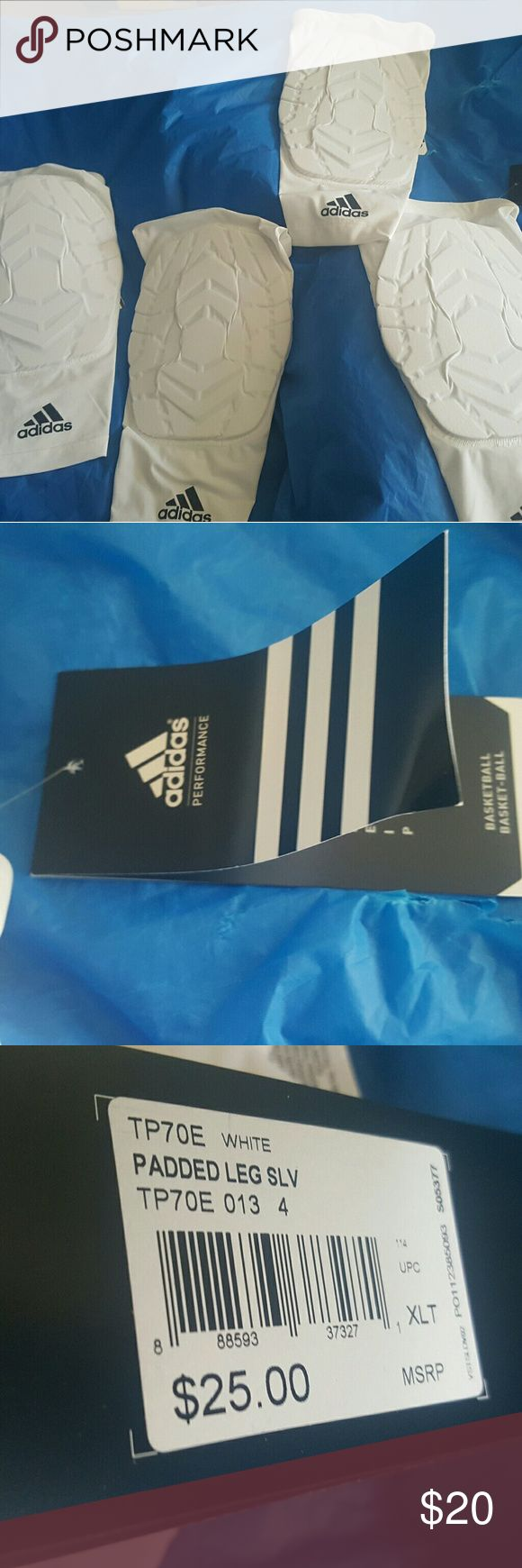 Adidas performance basketball padded leg sleeve Buy one,or buy a pair! Padded compression basketball leg sleeves,new with tags. Questions? ask me anything! adidas Other
