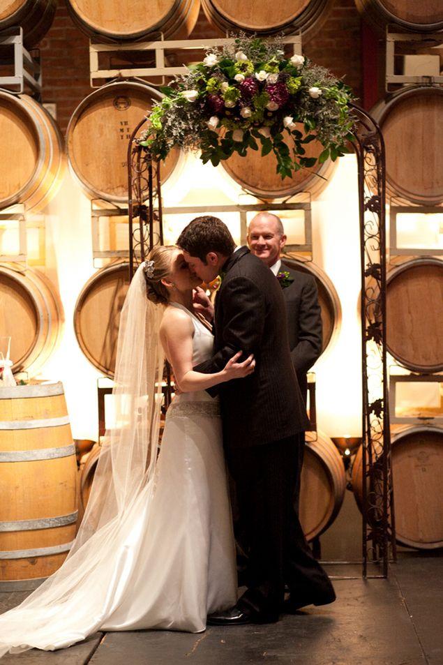 Winery wedding ceremony - PHOTO SOURCE • KIMJMARTIN PHOTOGRAPHY