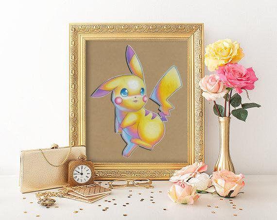 Pikachu Art Signed Print Pokemon Art Pokemon Geek Art