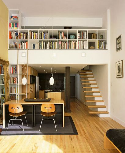 Great use of the loft space and a mezzanine is a perfect way to get the most from it.