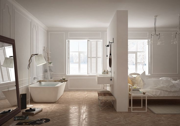 Clean lines for a casual space. The thicker rim on the outer edge looks functional, weighty, and visually appealing.