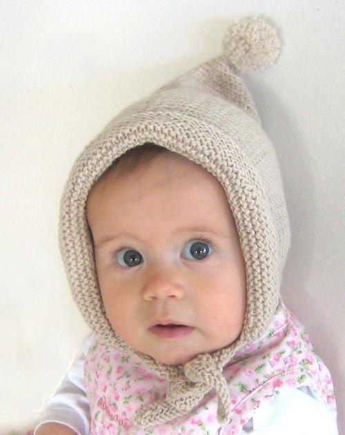 free kids knitted hat pattern   Ella Rose's Pixie Bonnet » Knitting Bee