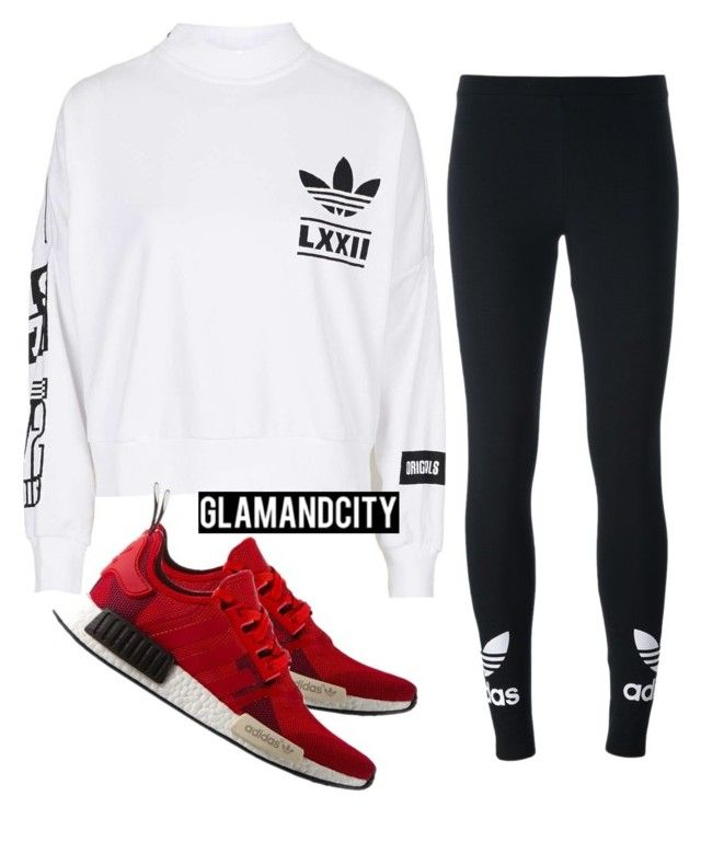 """""""Untitled #610"""" by glamandcity ❤ liked on Polyvore featuring adidas Originals and adidas"""