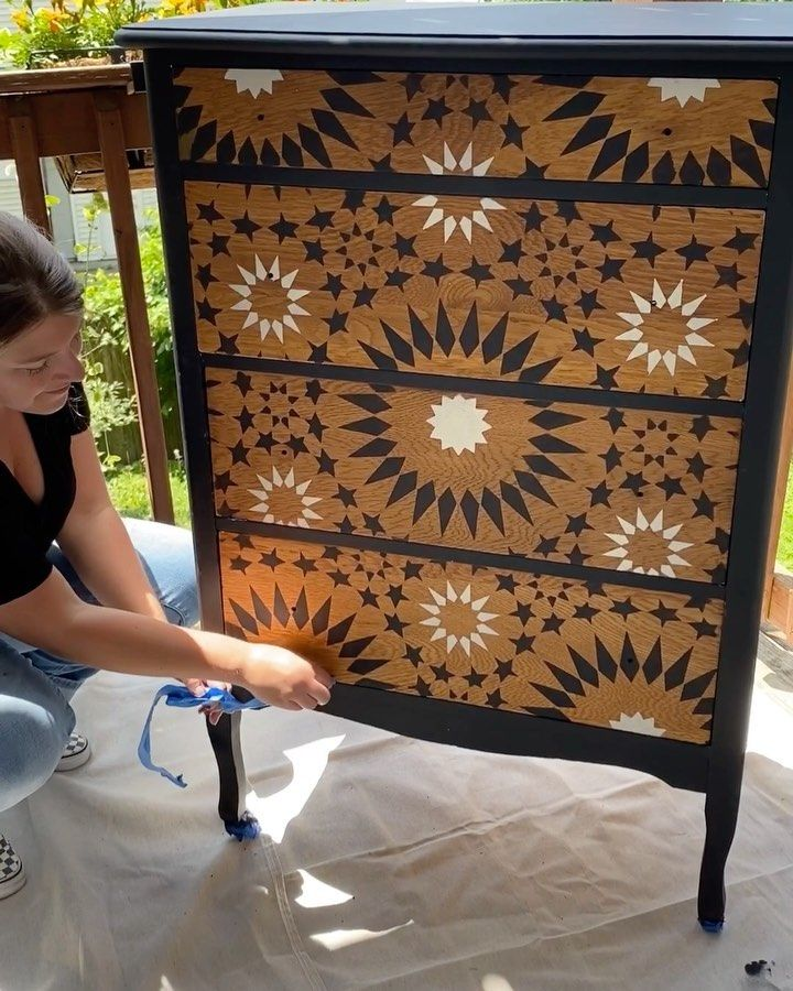 Pin On Stenciled Painted Furniture