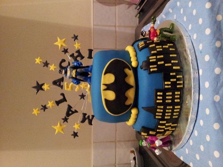 batman birthday cakes | Batman 2 tier Birthday Cake — Children's Birthday Cakes