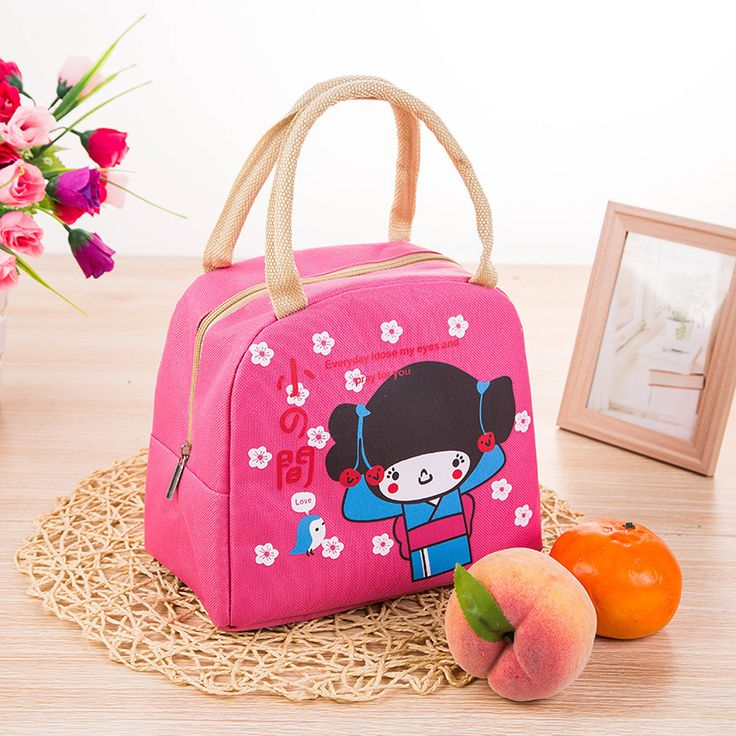 New Arrival Cute Cartoon Zipper Cooler Insulated Lunch Bag Creative Tote Pink Food Bag Box For Women Girl //Price: $3.68 & FREE Shipping //     #hashtag4