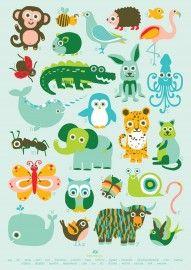 ABC dieren poster