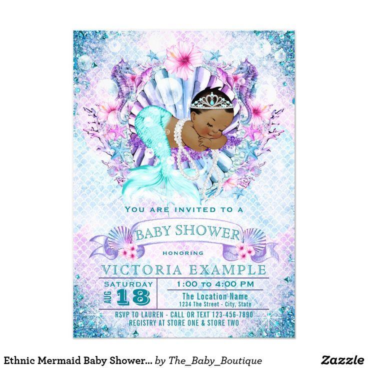 64 best Mermaid Baby Shower Invitations Ideas images on Pinterest ...
