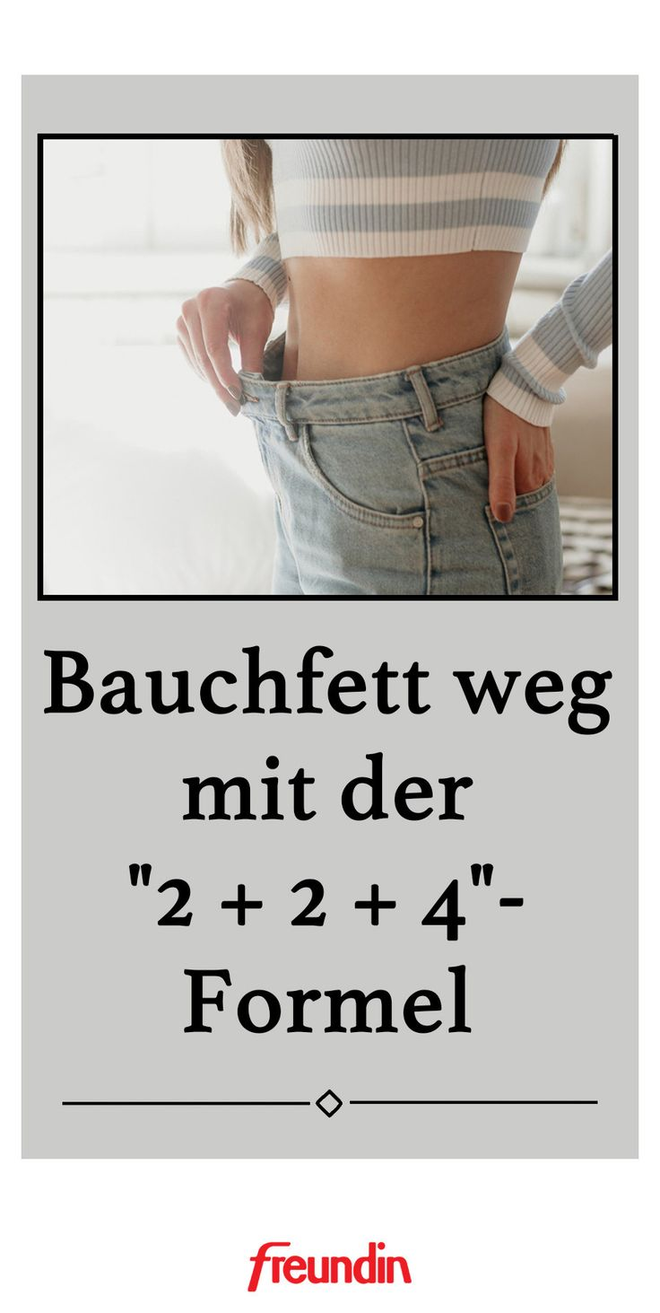 """Bauchfett weg mit der """"2 + 2 + 4""""-Formel"""