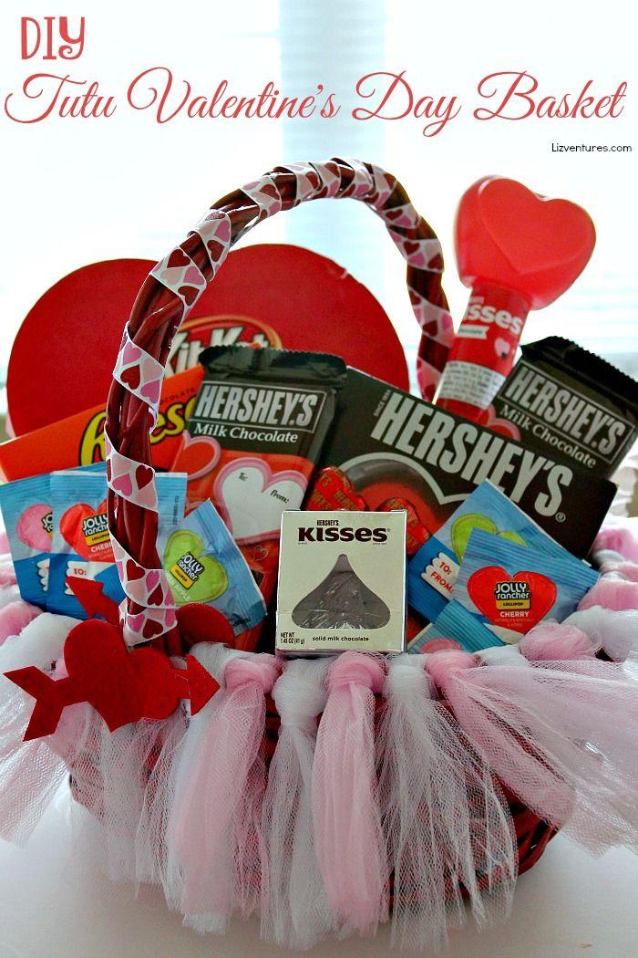 DIY Tutu Valentine's Day Basket