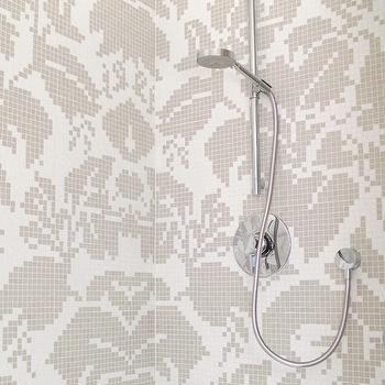 Damask Tiles For Bathroom Damask Tile Damask Wall Sophisticated Bathroom